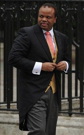 King Mswati Iii Of Swaziland From Royal Wedding Vip
