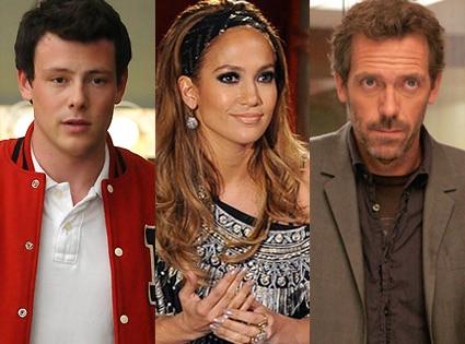Cory Monteith, Glee, Jennifer Lopez, American Idol, Hugh Laurie, House