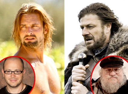 Josh Holloway, Lost, Damon Lindelof, Sean Bean, Game of Throne, George R. R. Martin