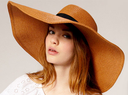 ASOS Oversized '70s Floppy Straw Hat
