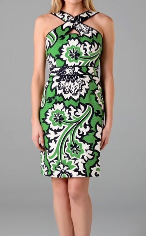 Milly Alessandra Keyhole Dress