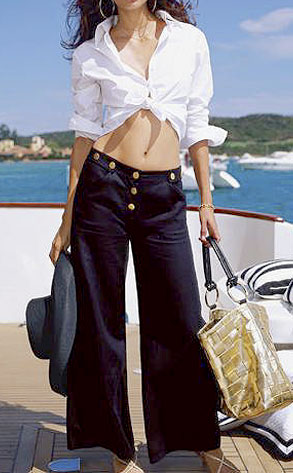 Nautical-Inspired Linen Pants