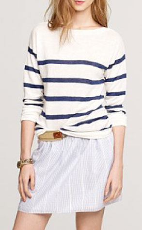 J.Crew Stripe Boatneck Sweater