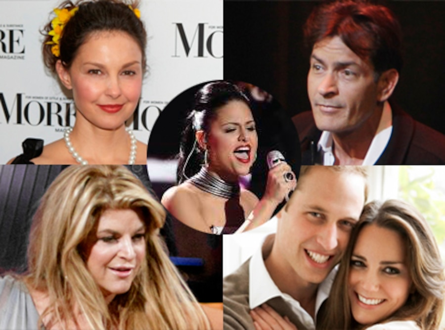 Ashley Judd, Charlie Sheen, Kirstie Alley, Prince William, Kate Middleton, Pia American Idol