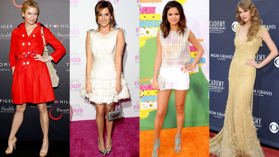 Renee Zellweger, Ashley Tisdale, Selena Gomez, Taylor Swift