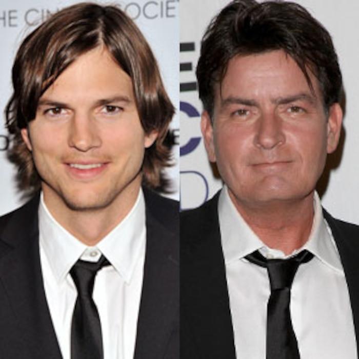 Ashton Kutcher, Charlie Sheen
