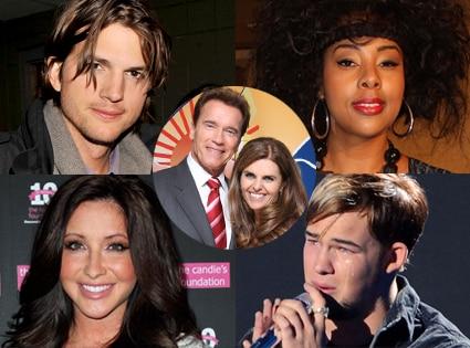Ashton Kutcher, Mia Amber Davis, Bristol Palin, James Durbin, Arnold, Maria