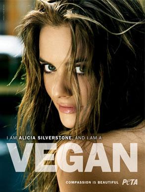 Alicia Silverstone, PETA ad