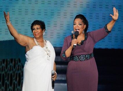 Oprah Winfrey, Aretha Franklin
