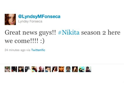 Lyndsy Fonseca, Twitter