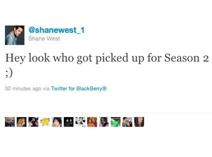 Shane West, Twitter