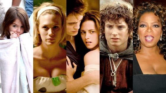 Suri Cruise, January Jones, Robert Pattinson, Kristen Stewart, Frodo Baggins, Oprah Winfrey