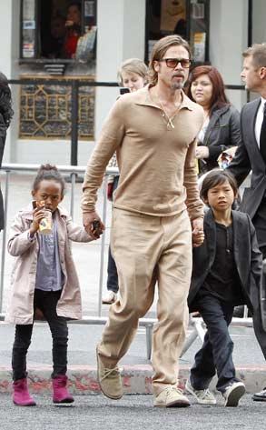 Brad Pitt, Angelina Jolie, Maddox Chivan, Zahara Marley, Shiloh Nouvel, Pax Thien