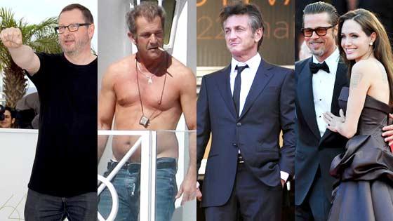 Lars Von Trier, Mel Gibson, Sean Penn, Angelina Jolie, Brad Pitt
