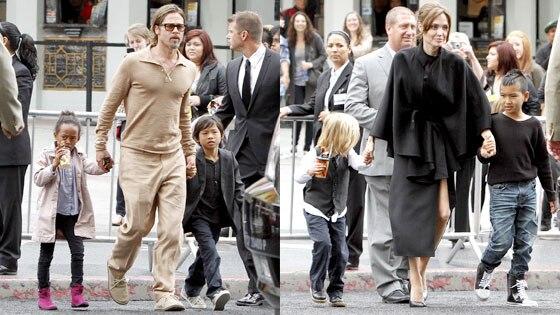 Brad Pitt, Angelina Jolie, Kids