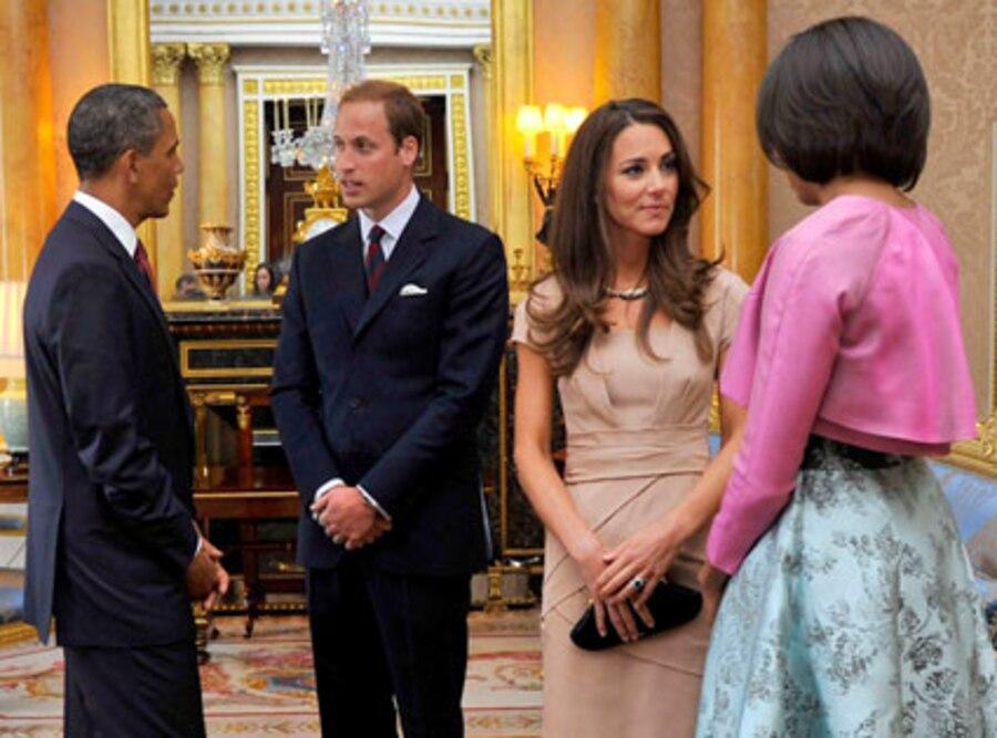 Barack Obama, Michelle Obama, Prince William, Catherine Middleton, Kate Middleton