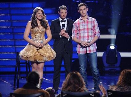 American Idol, Lauren Alaina, Ryan Seacrest, Scotty McCreery