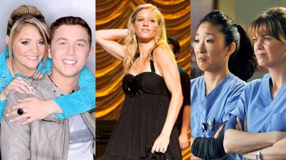 American Idol, Glee, Sandra Oh, Ellen Pompeo, Greys Anatomy