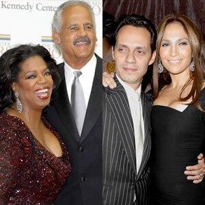 Oprah WInfrey, Stedman Graham, Jennifer Lopez, Marc Anthony