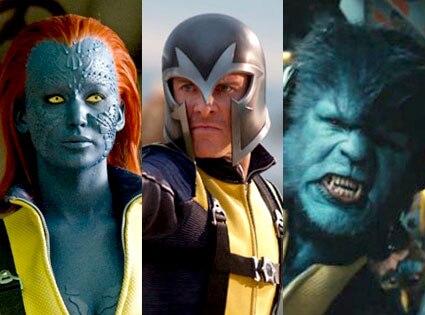 Michael Fassbender, Magneto, Jennifer Lawrence, Mystique, Nicholas Hoult, Beast