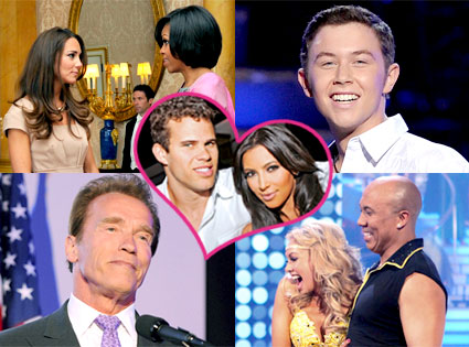 Kate Middleton, Michelle Obama, Scotty McCreery, Arnold Schwarzenegger, Hines Ward, Kym Johnson, Kim Kardashian, Kris Humphries