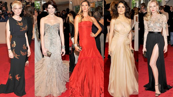 Michelle Williams, Ashley Greene, Gisele Bundchen, Salma Hayek, Diane Kruger