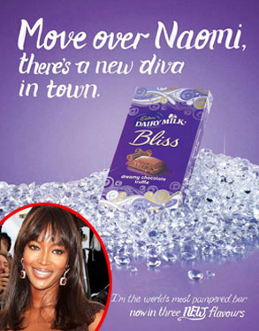 Cadbury Bliss Ad, Naomi Campbell