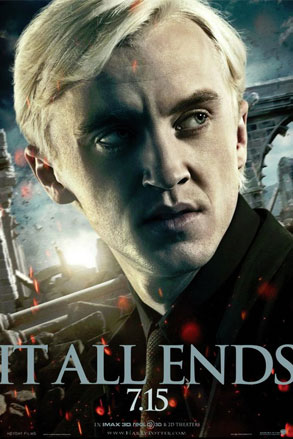 Tom Felton, Harry Potter, It All Ends Poster