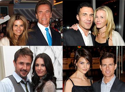 Tom Cruise, Katie Holmes, Courteney Cox, David Arquette, Arnold Schwarznegger, Maria Shriver, Chelsea Handler, Andre Balazs