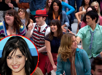 Rebecca Black, Glee, Chris Colfer, Lea Michele, harry Shum Jr.