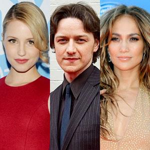 Diana Agron, James McAvoy, Jennifer Lopez