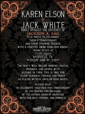 Jack White, Karen Elson, Divorce party