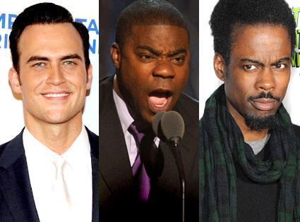 Cheyenne Jackson, Tracy Morgan, Chris Rock
