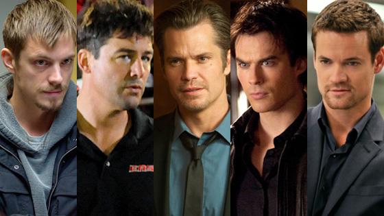 Joel Kinnaman, The Killing, Kyle Chandler, Friday Night Lights, Timothy Olyphant, Justified, Ian Somerhalder, The Vampire Diaries, Shan
