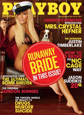 Chrystal Harris, Playboy, Runaway Bride Sticker