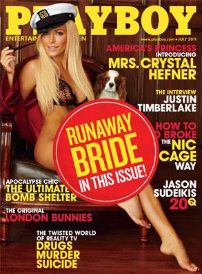 Chrystal Harris, Playboy, Runaway Bride Sticker