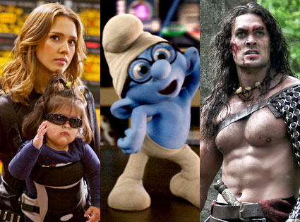Spy Kids 4, The Smurfs, Conan the Barbarian