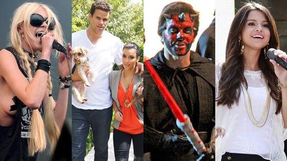 Taylor Momsen, Kim Kardashian, Kris Humphries, Mark Wahlberg, Selena Gomez
