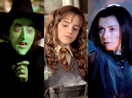 Wizard of Oz, Margaret Hamilton, Harry Potter, Emma Watson, Buffy the Vampire Slayer, Alyson Hannigan