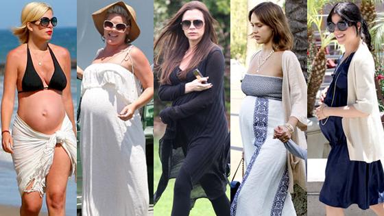 Tori Spelling, Pink, Victoria Beckham, Jessica Alba, Selma Blair