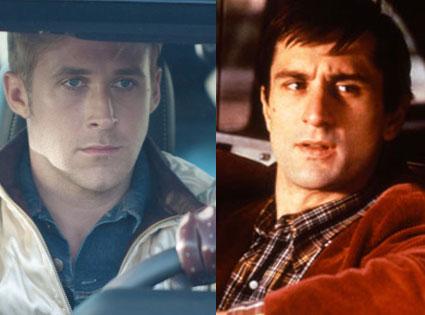 Ryan Gosling, Drive, Robert De Niro, Taxi Driver