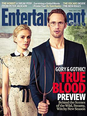 Entertainment Weekly, True Blood, Anna Paquin. Alexander Skarsgard