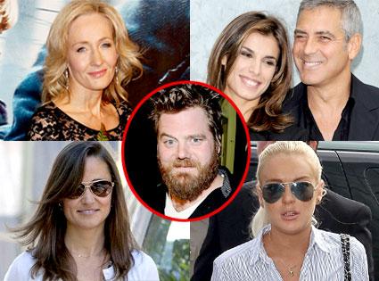 JK Rowling, George Clooney, Elisabetta Canalis, Pippa Middleton, Lindsay Lohan, Ryan Dunn