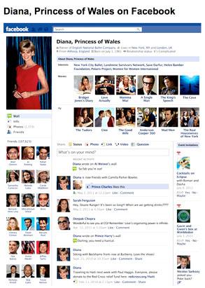 Fake Princess Diana Facebook Page