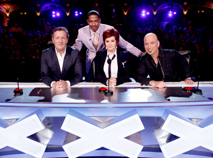AMERICAS GOT TALENT, Piers Morgan, Nick Cannon, Sharon Osbourne, Howie Mandel