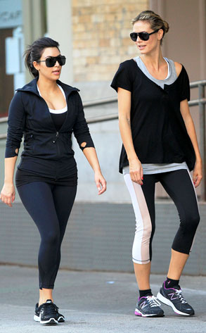 Kim Kardashian, Heidi Klum