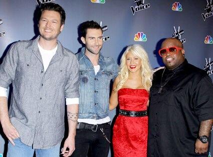 Blake Shelton, Adam Levine, Christina Aguilera, Cee-Lo Green