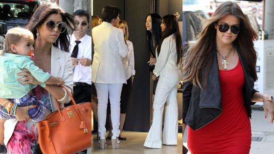 Kim Kardashian, Kris Jenner, Vera Wang, Kourtney Kardashian, Khloe Kardashian