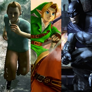 Batman Arkham City, The Adventures of Tintin: The Game, Legend of Zelda: Ocarina of Time 3D