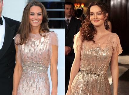 Duchess Catherine, Kate Middleton, Leighton Meester, Gossip Girl